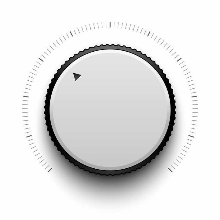 逼真的白色旋钮按钮开关png图片免抠矢量素材