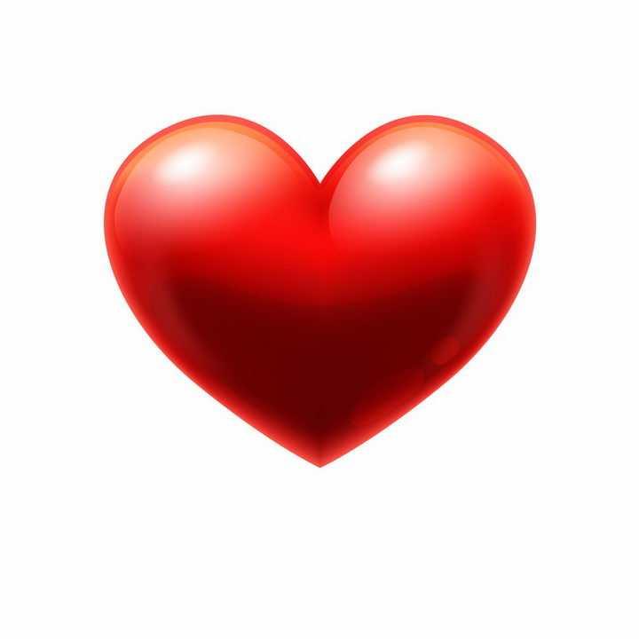 立体风格的红心爱心红桃心符号形图案png图片免抠eps矢量素材
