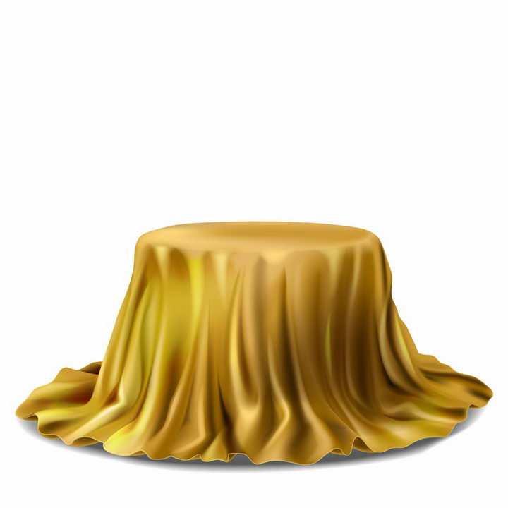 黄色幕布覆盖的展台png图片免抠矢量素材