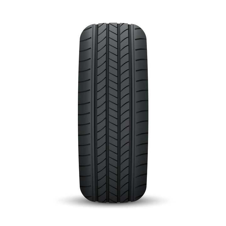 黑色汽车轮胎的标准正面照png图片免抠矢量素材