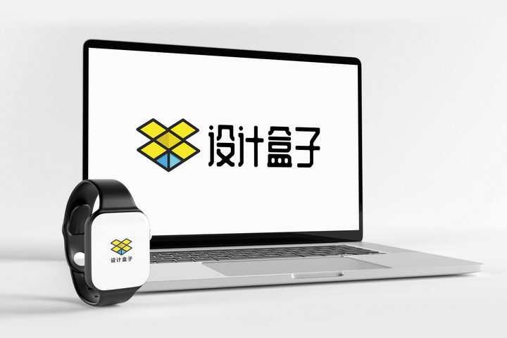 简约苹果MacBook Pro笔记本电脑和iWatch智能手表屏幕展示样机图片设计模板素材