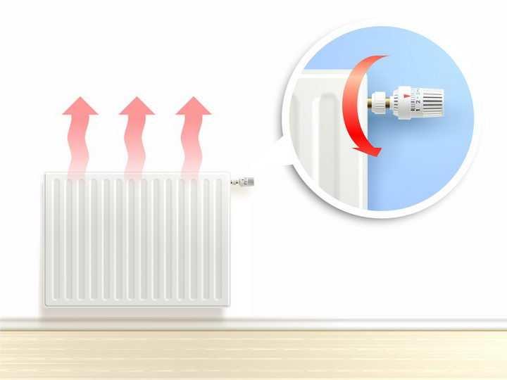 北方的暖气片热气箭头效果png图片免抠矢量素材