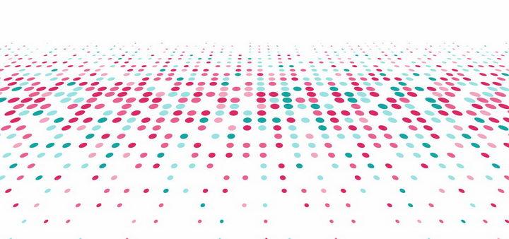 红色绿色圆点组成的点阵装饰背景图png图片免抠矢量素材 线条形状-第1张