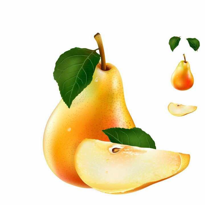 切开的大鸭梨美味水果横切面png图片免抠矢量素材