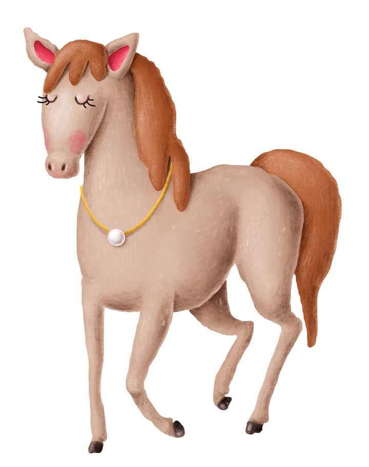捏橡皮泥手工制作的骏马作品图片设计模板素材