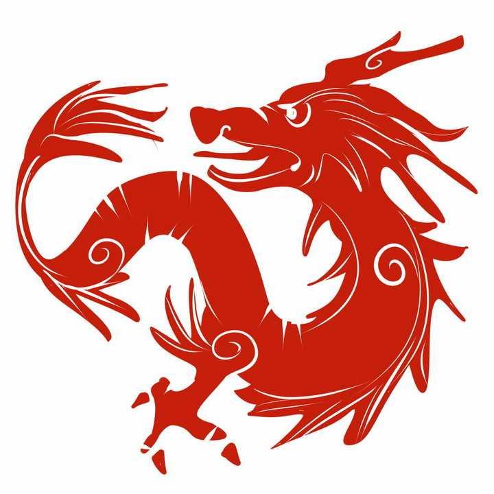 红色中国龙图案png图片免抠素材