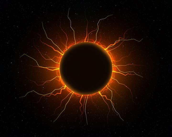 红色的球形闪电球状闪电黑洞图片png免抠素材