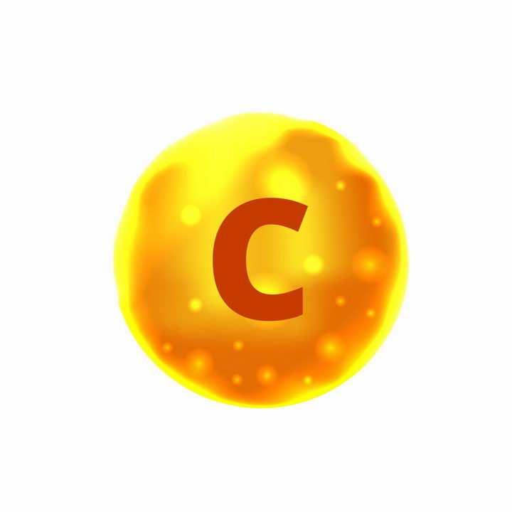 黄色液滴抗坏血酸维生素C营养元素维他命保健品png图片免抠EPS矢量素材