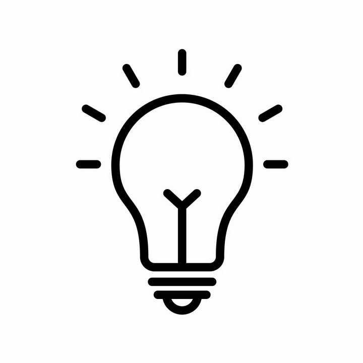 发光的线条电灯泡图片免抠AI矢量素材