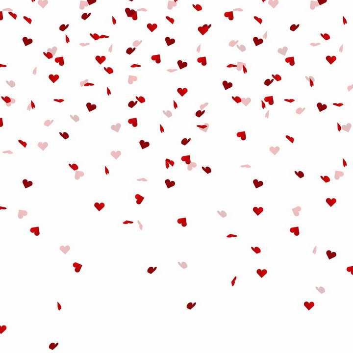 各种红色心形符号组成的背景装饰png图片免抠eps矢量素材