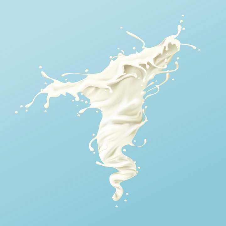 牛奶乳白色液体漩涡效果png图片免抠矢量素材