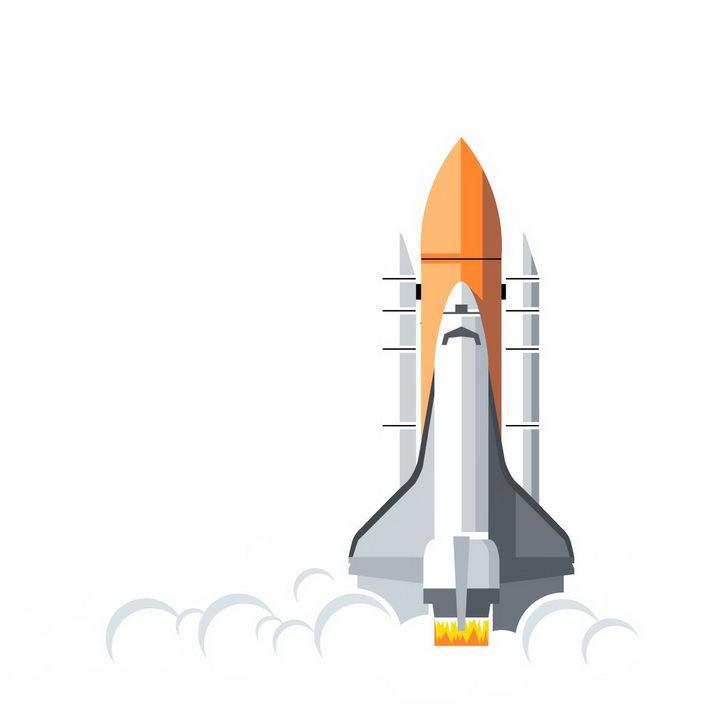 扁平化风格正在起飞的航天飞机png图片免抠eps矢量素材 科学地理-第1张