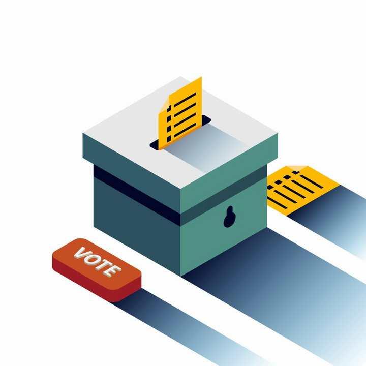 长阴影风格投票箱png图片免抠矢量素材
