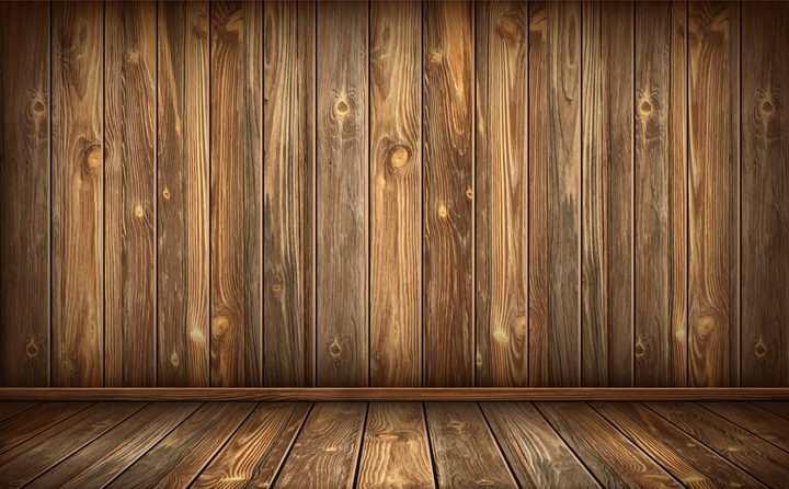 立体风格的深色木板背景图