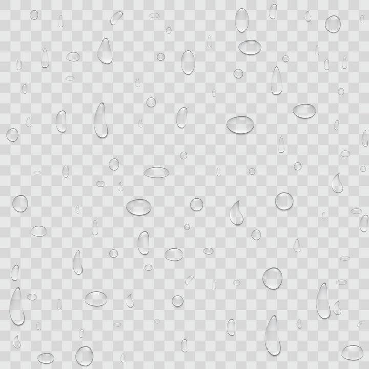 各种形状的小水珠水滴半透明液体效果图片免抠矢量素材 效果元素-第1张