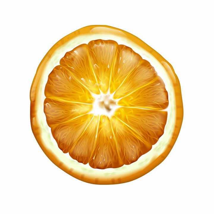 橘子柠檬水果横切面png图片免抠矢量素材