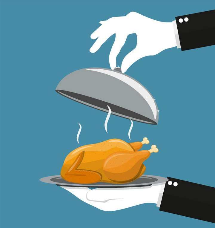 打开盖子美味的烧鸡美食png图片免抠矢量素材