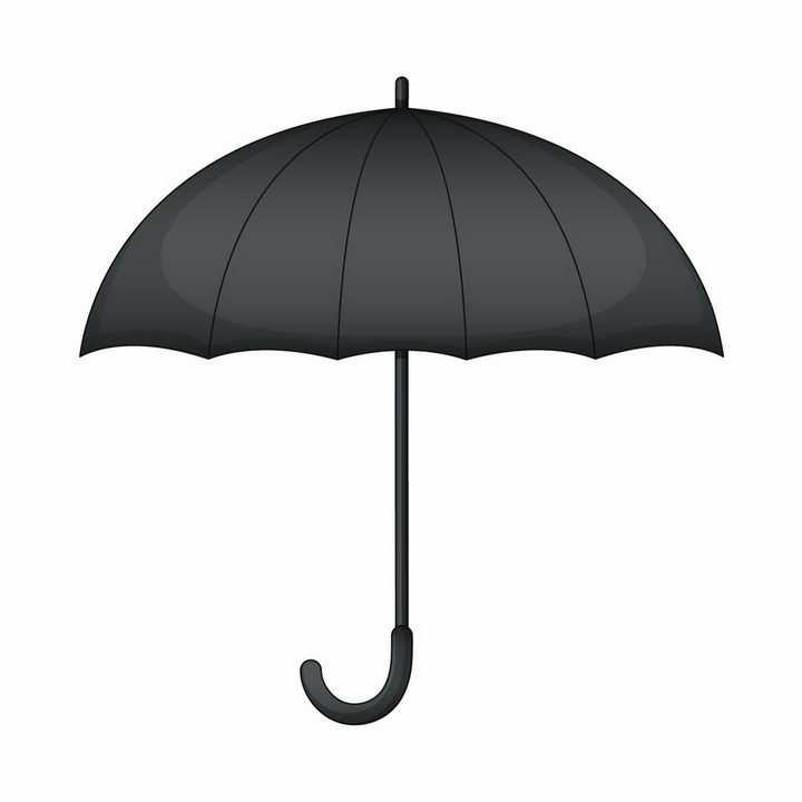 黑色的雨伞侧面图png图片免抠eps矢量素材