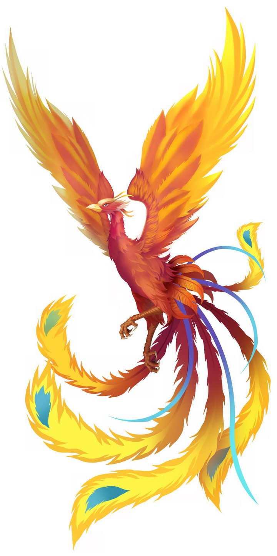 飞翔的中国传统神兽凤凰不死鸟png图片免抠素材