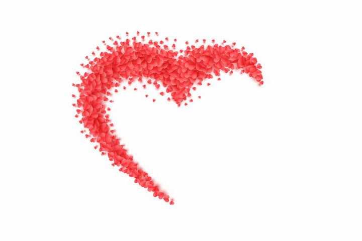 很多红心组成的半个心形符号图案png图片免抠eps矢量素材