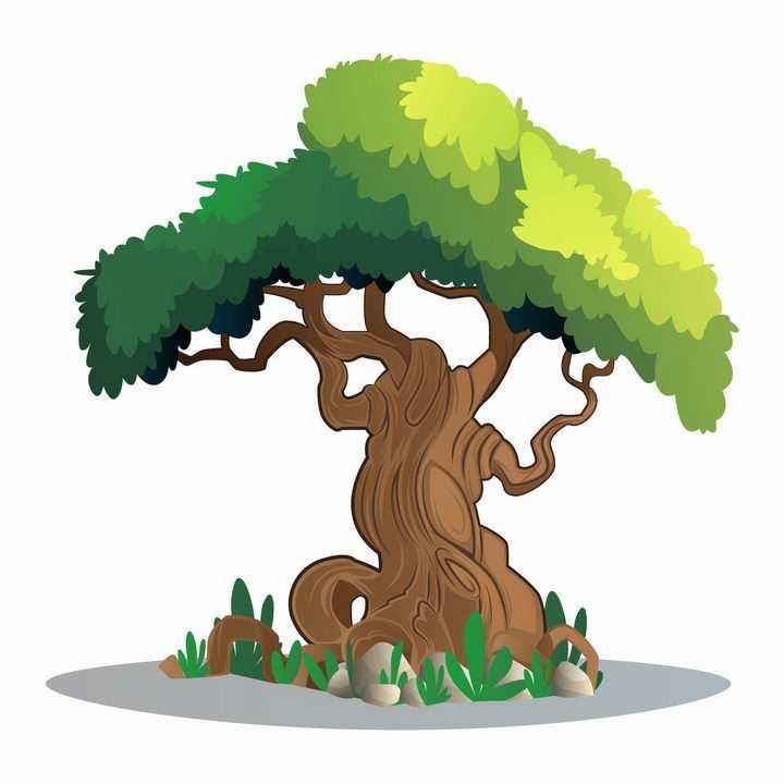 一款郁郁葱葱的大树树木绿树png图片免抠矢量素材