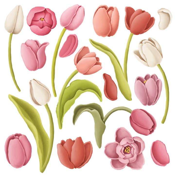 各种捏橡皮泥手工制作的百合花花朵花瓣作品图片设计模板素材