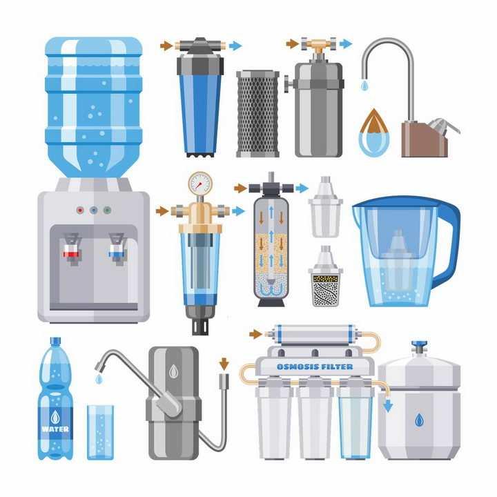 各种饮水机净水机装置图片png免抠素材