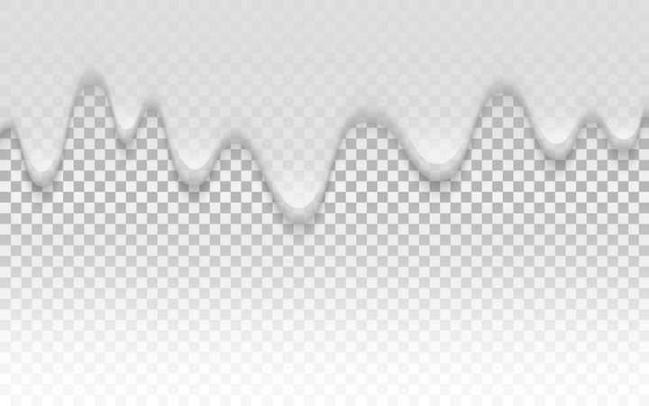 流淌下来的白色液体效果png图片免抠矢量素材