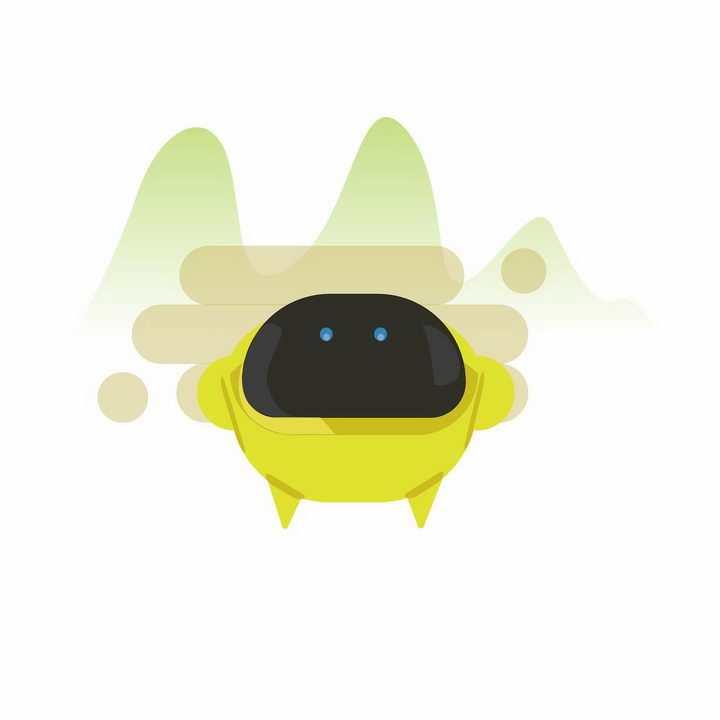 创意圆乎乎的可爱小机器人png图片免抠ai矢量素材