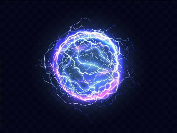 发光的球形闪电球状闪电科幻图片png免抠素材