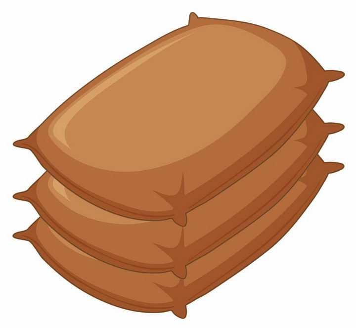 叠加在一起的装满粮食的麻袋袋子png图片免抠矢量素材