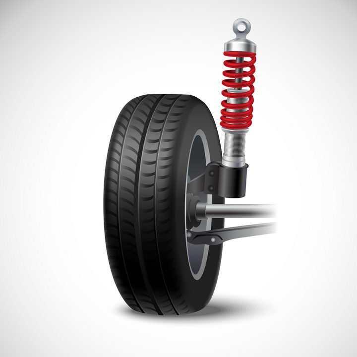 汽车轮胎和悬挂系统png图片免抠矢量素材