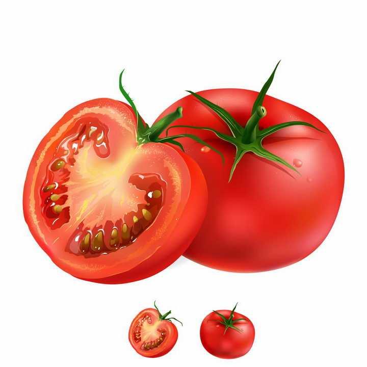 切开的西红柿番茄美味水果横切面png图片免抠矢量素材