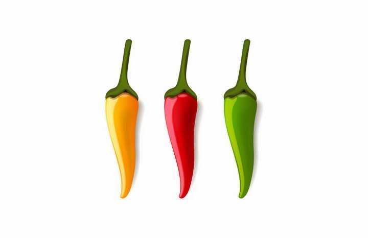 黄色红色和绿色辣椒png图片免抠矢量素材