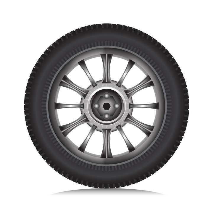 汽车轮胎和轮毂侧面图png图片免抠矢量素材
