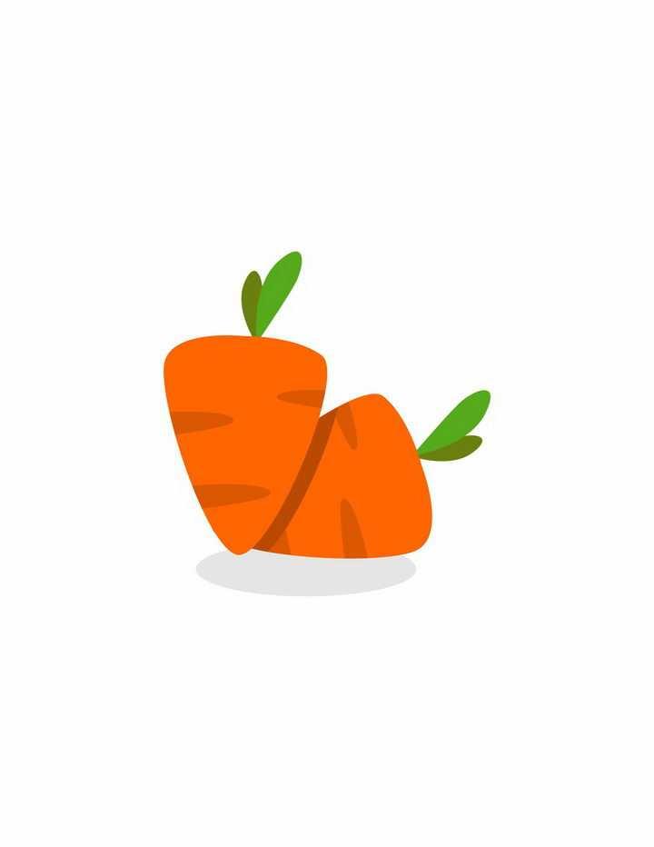 可爱的卡通胡萝卜美味美食png图片免抠EPS矢量素材