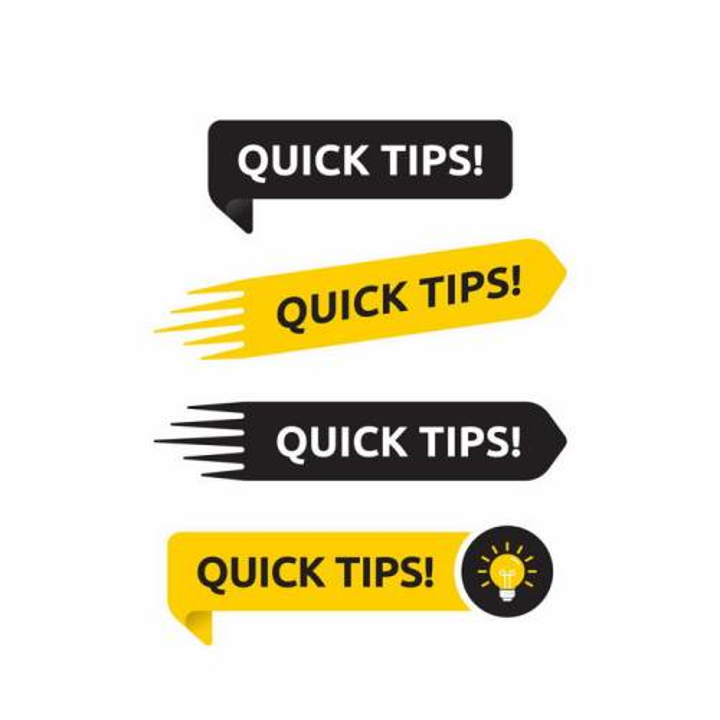 4款黑色黄色标签风格友情提示温馨提示框png图片免抠矢量素材