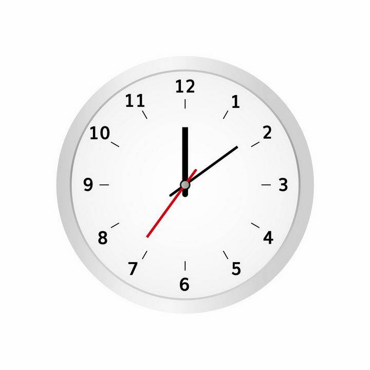 简约风格银白色时钟表盘时针分针秒针png图片免抠矢量素材