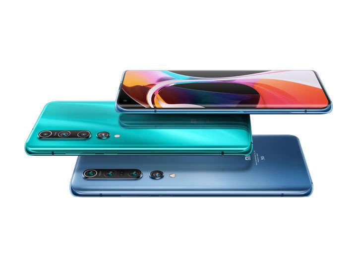 三个叠加在一起的小米10Pro手机png图片免抠素材