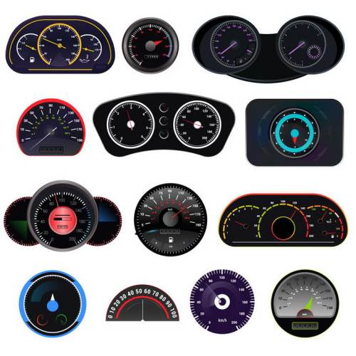13款汽车仪表盘摩托车仪表盘速度表转速表png图片免抠矢量素材