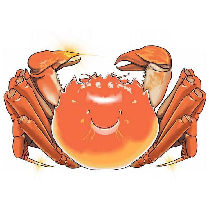 金光闪闪的大闸蟹png图片免抠素材