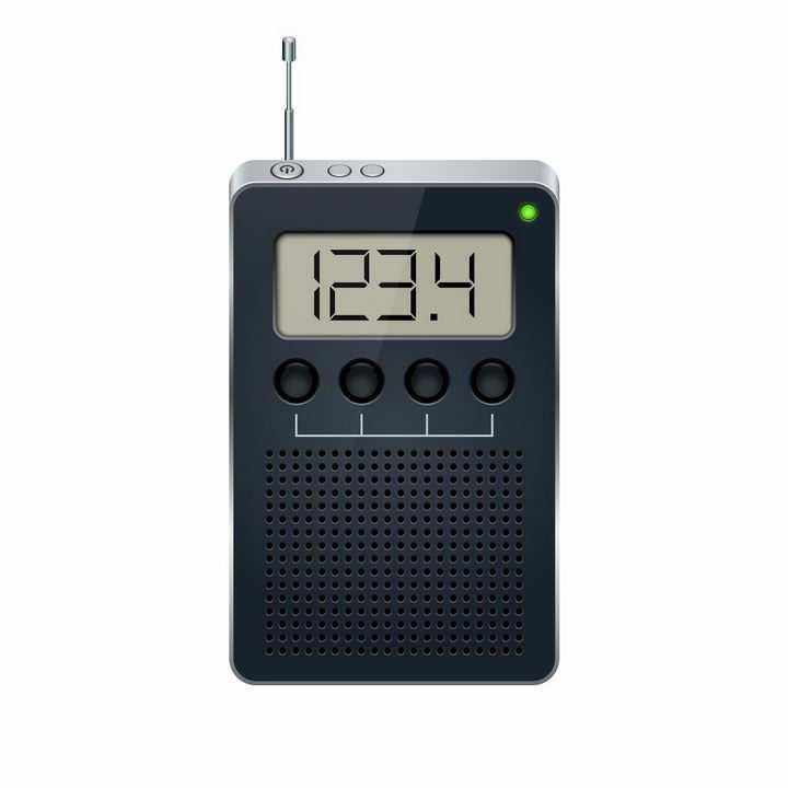 袖珍型液晶显示功能调频无线电收音机png图片免抠矢量素材