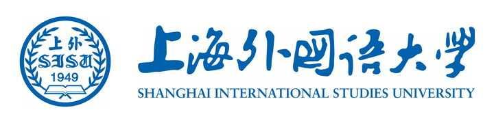 横版上海外国语大学校徽png图片免抠素材