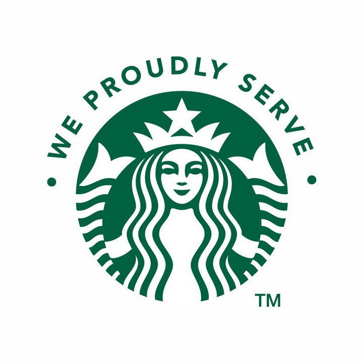 蓝色经典星巴克咖啡logo标志png图片免抠矢量素材 标志LOGO-第1张