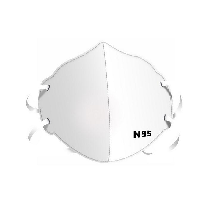 白色N95口罩png图片免抠素材 健康医疗-第1张