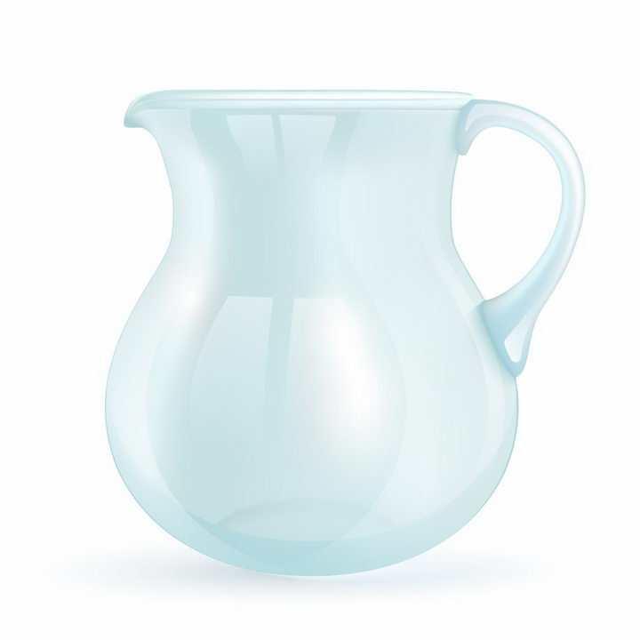 淡蓝色的玻璃水罐水壶png图片免抠矢量素材