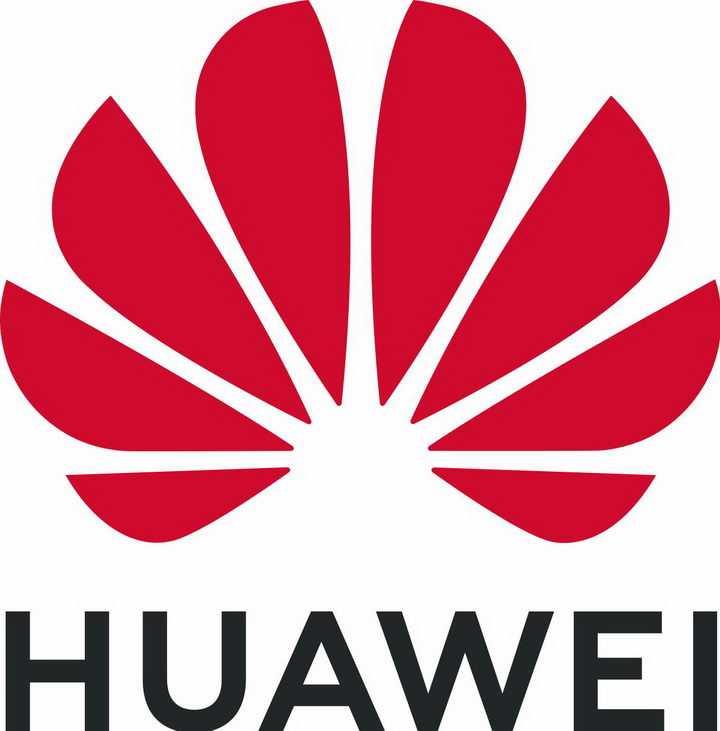 扁平化华为英文世界品牌500强logo标志png图片免抠素材