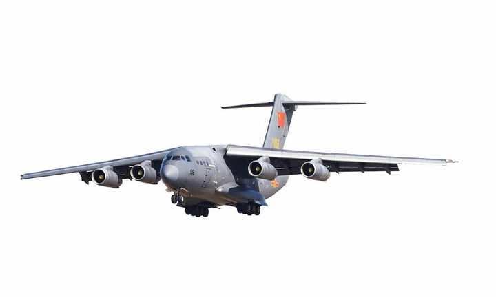 国产运20军用大型运输机透明png高清免抠图片