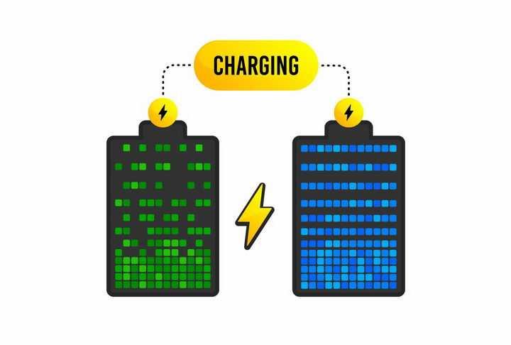 方格手机电池充电示意图png图片免抠eps矢量素材