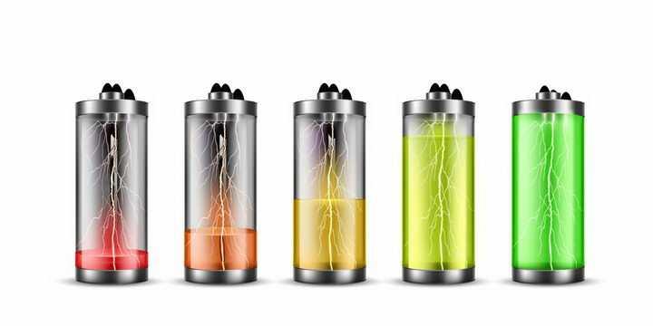 抽象里面充满闪电的水晶风格电池电量显示png图片免抠eps矢量素材
